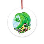 Summer Dragon Ornament (round)