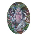 Forest Fairy Baby Ornament (oval)
