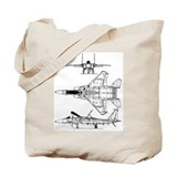 F-15 Eagle Schematic Tote Bag
