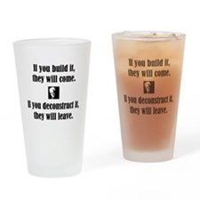 Funny Philosophers Drinking Glass
