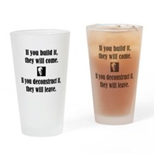 Funny Philosophical Drinking Glass