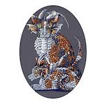 Calico Dragon Cats Ornament (oval)