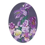 Bearded Iris Dragon Ornament (oval)