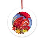 Fall Dragon Ornament (round)
