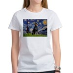 Starry Night Doberman Women's T-Shirt