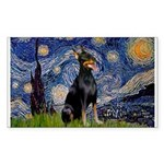 Starry Night Doberman Sticker (Rectangle)