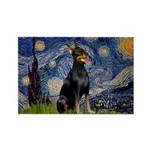 Starry Night Doberman Rectangle Magnet