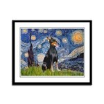 Starry Night Doberman Framed Panel Print