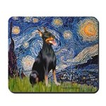 Starry Night Doberman Mousepad