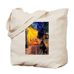 Cafe & Doberman Tote Bag