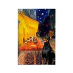 Cafe & Doberman Rectangle Magnet (10 pack)