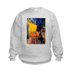 Cafe & Doberman Kids Sweatshirt