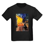 Cafe & Doberman Kids Dark T-Shirt