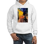 Cafe & Doberman Hooded Sweatshirt