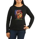 Mandolin Angel & Dobie Women's Long Sleeve Dark T-