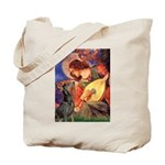 Mandolin Angel & Dobie Tote Bag