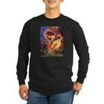 Mandolin Angel & Dobie Long Sleeve Dark T-Shirt