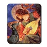 Mandolin Angel & Dobie Mousepad