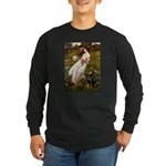 Windflowers / Doberman Long Sleeve Dark T-Shirt