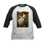Windflowers / Doberman Kids Baseball Jersey