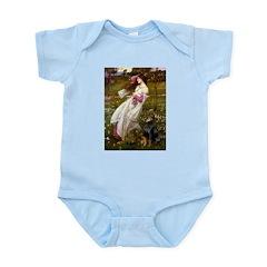 Windflowers / Doberman Infant Bodysuit
