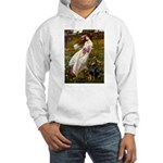 Windflowers / Doberman Hooded Sweatshirt