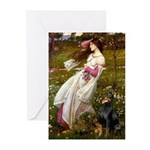 Windflowers / Doberman Greeting Cards (Pk of 10)