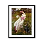 Windflowers / Doberman Framed Panel Print