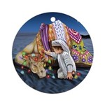Shepherd Boy And Camel Ornament (round)