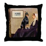 Mom's Doberman (#1) Throw Pillow