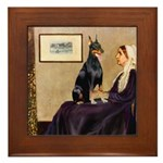 Mom's Doberman (#1) Framed Tile