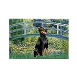 Bridge / Doberman Rectangle Magnet (10 pack)