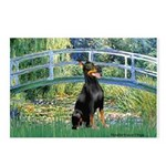 Bridge / Doberman Postcards (Package of 8)