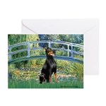 Bridge / Doberman Greeting Cards (Pk of 10)