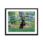 Bridge / Doberman Framed Panel Print