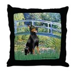 Bridge / Doberman Throw Pillow