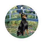 Bridge / Doberman Ornament (Round)