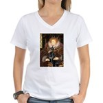 The Queen's Dobie Women's V-Neck T-Shirt