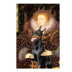 The Queen's Dobie Postcards (Package of 8)