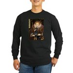 The Queen's Dobie Long Sleeve Dark T-Shirt