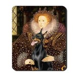 The Queen's Dobie Mousepad
