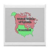 Jesusland / US of Canada Tile Coaster