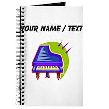 Custom Blue Piano Journal