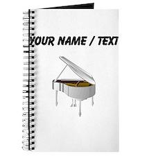 Custom White Piano Journal