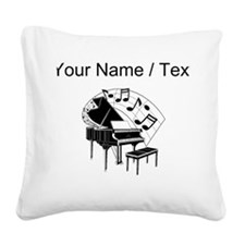 Custom Piano Square Canvas Pillow