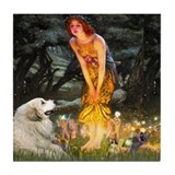 Midsummers Eve &amp; Great Pyrenees 4&quot; Tile