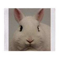 Dwarf Hotot Stare Throw Blanket