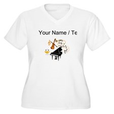Custom Musical Instruments Plus Size T-Shirt