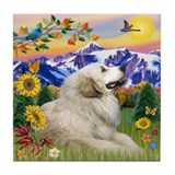 "Mt. Country & Great Pyrenees 4"" Tile"