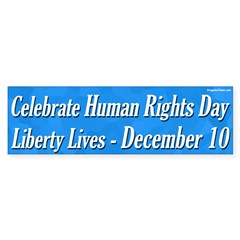Human Rights Day Bumper Sticker
